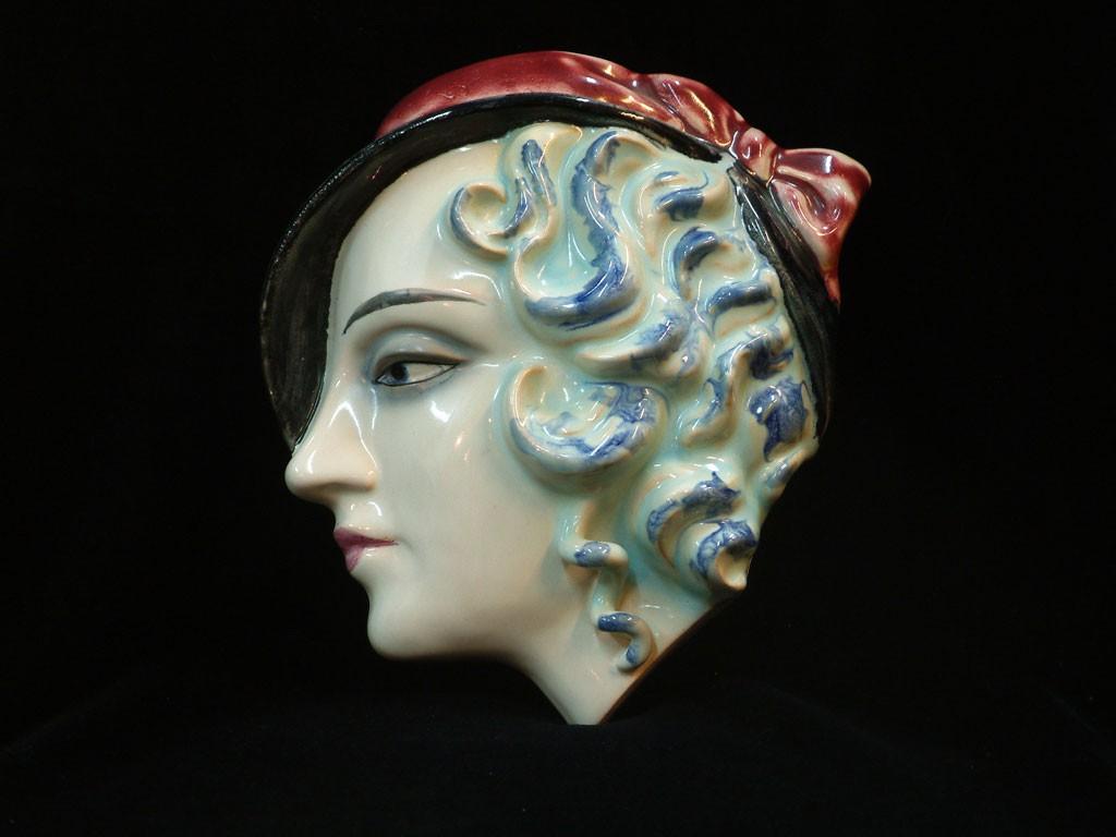 Goebel Poreclain Mask - Blue Haired Woman
