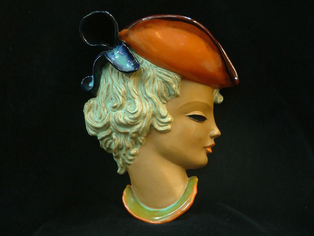 Goldscheider Ceramic Mask - Woman Profile