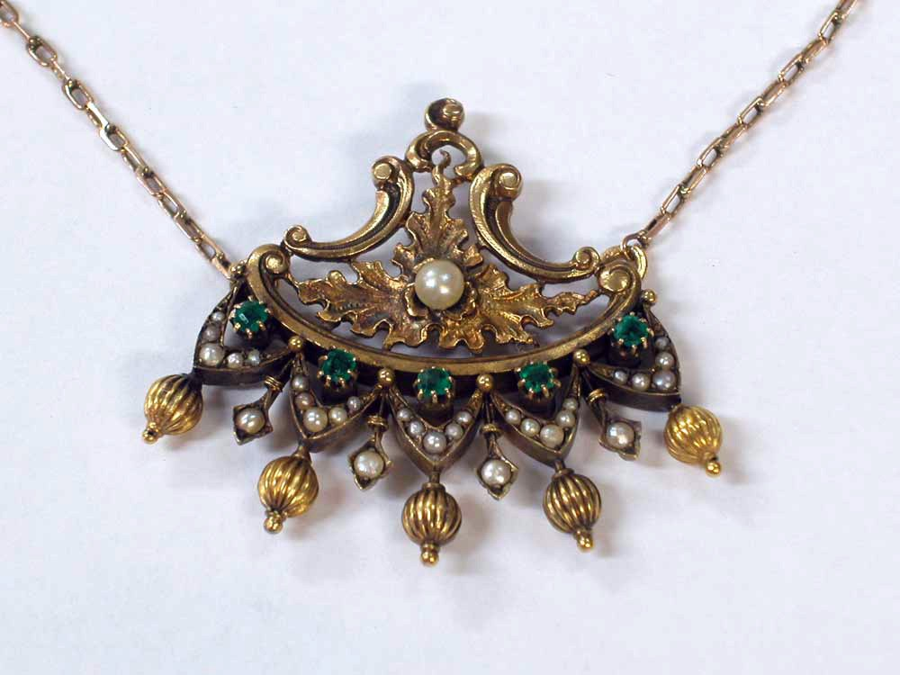 Necklace with Etruscan Styled Pendant