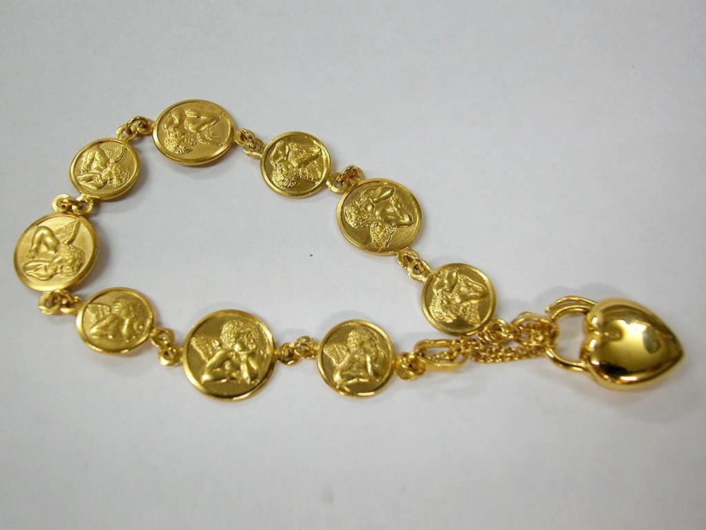 צמיד מלאכים זהב אנגלי