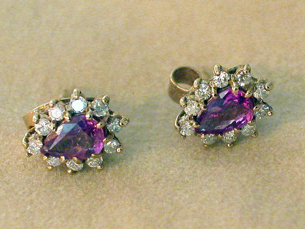 Ruby and Diamonds Earrings