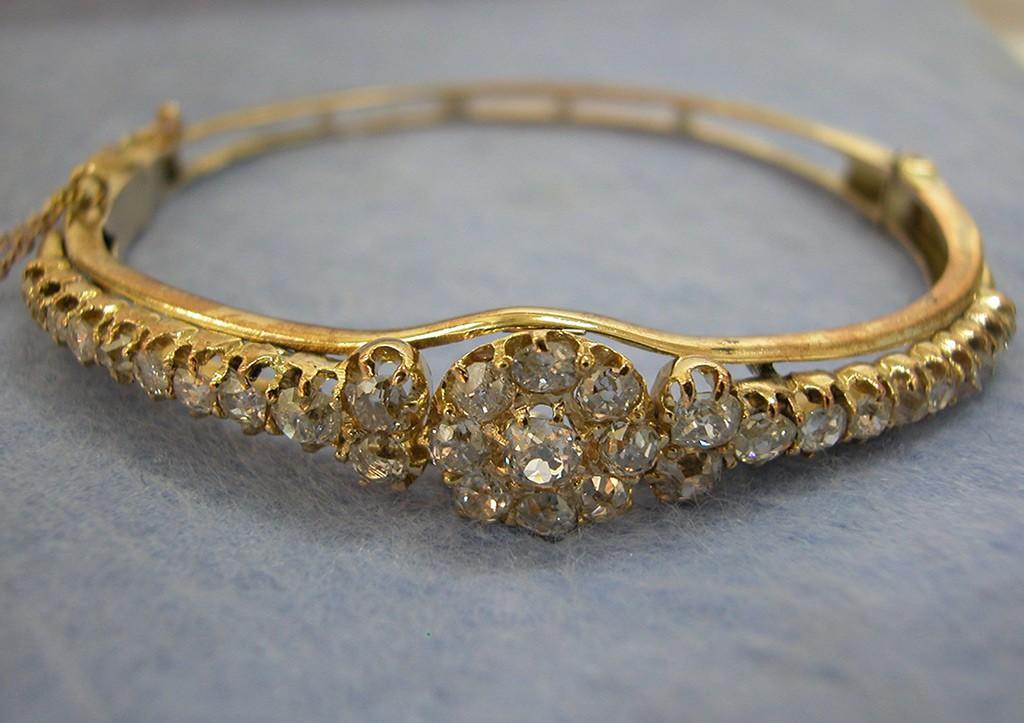 Edwardian Diamonds Bangle