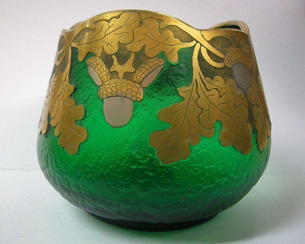 Legras French Green Vase