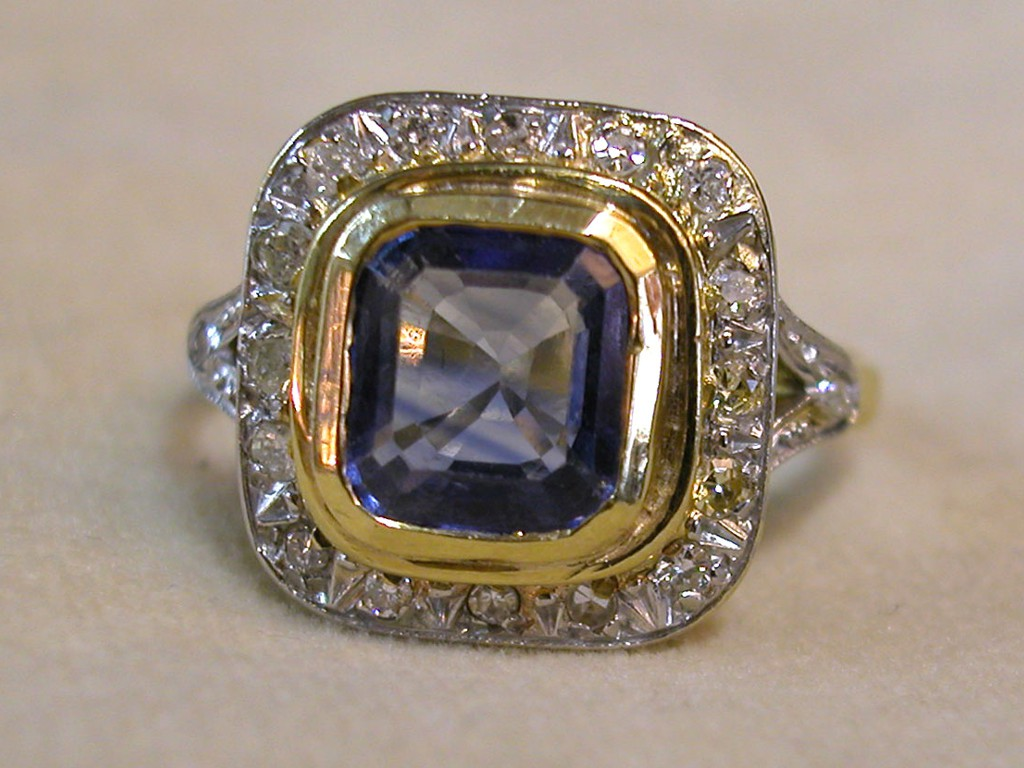 Diamonds and Bluestone Ring