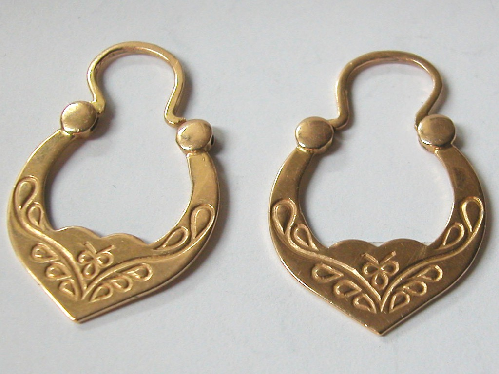 Gold Ethnic Gypsy Earrings