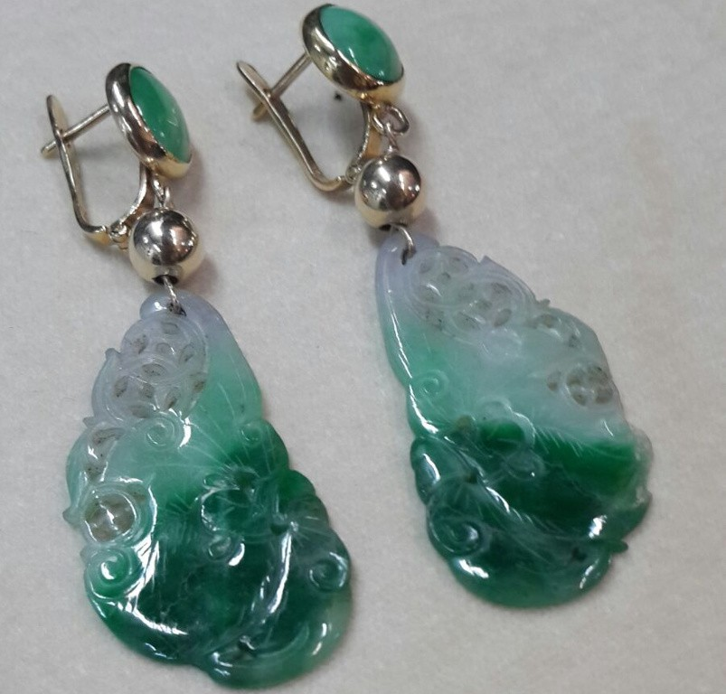 Art Deco Jade Earrings