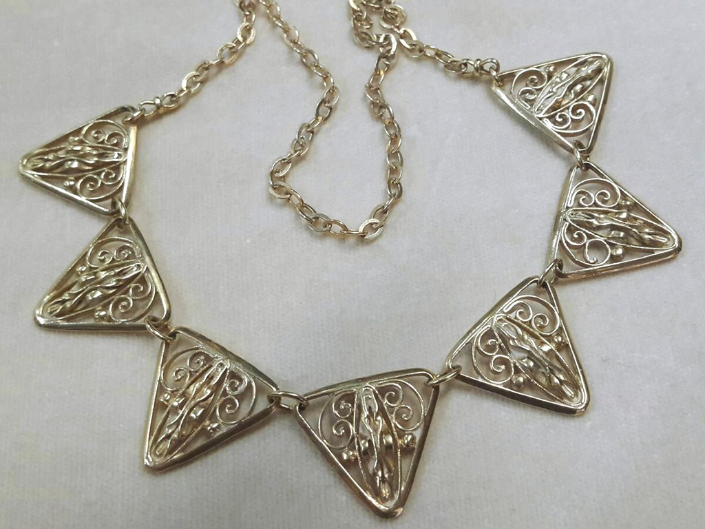 French Gold Filigree Necklace