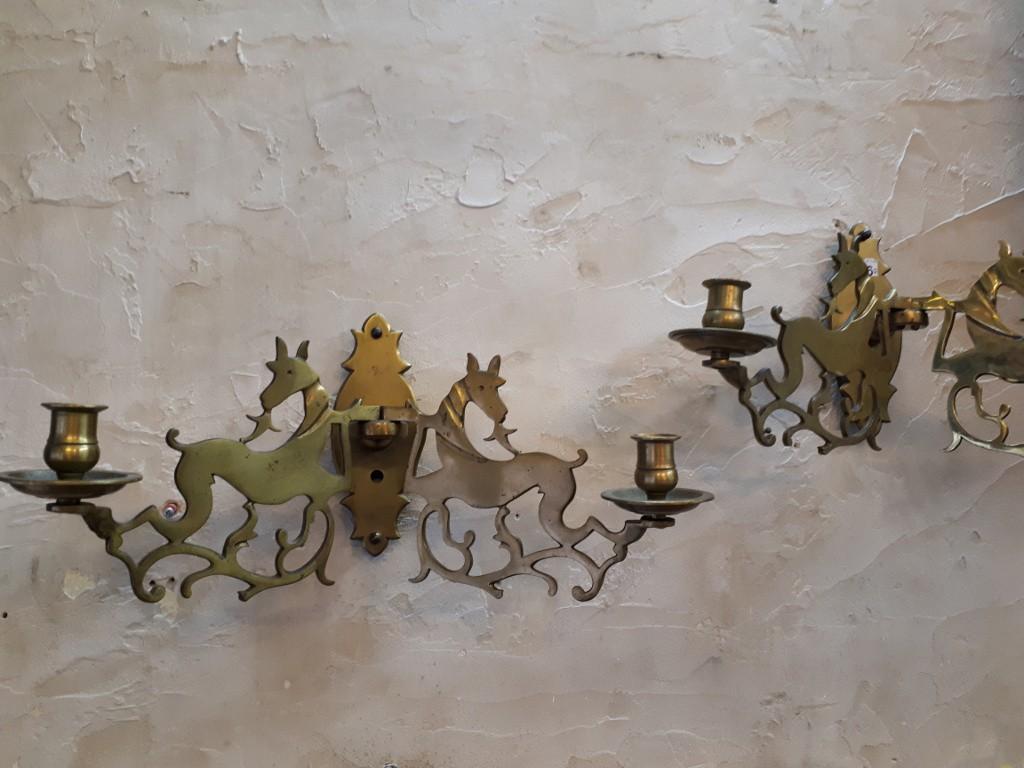 פמוטי קיר יהודיים לשבת בצורת אילות -מאה 19