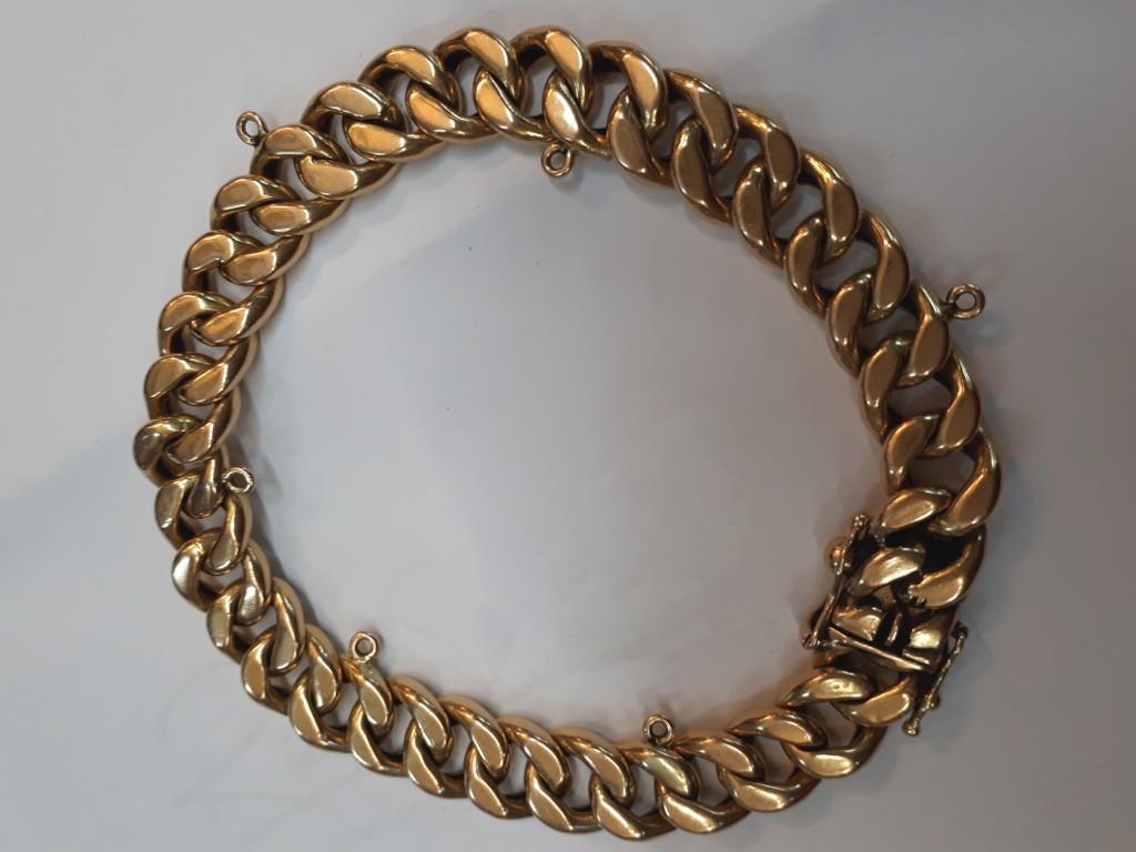 צמיד זהב 18 קאראט משנות ה-50 -לגבר וגם לאישה!