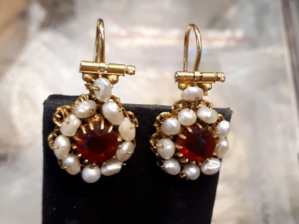 Beautiful Antique 21 Carat Gold Bukharan Earrings