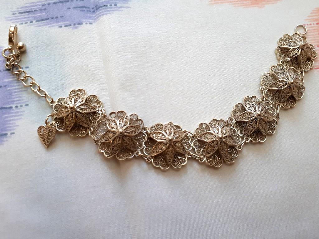 Ethnic Filigree Silver Bracelet