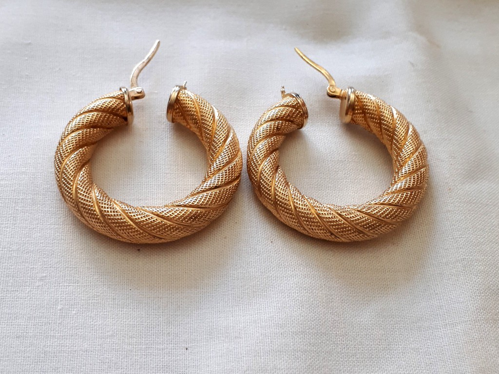 Gold Gypsy Earrings with Beautiful Engravings