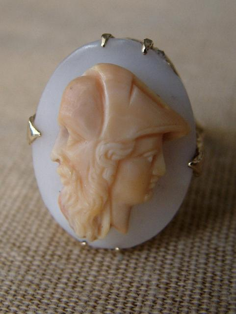 Cameo Ring with Two Characters