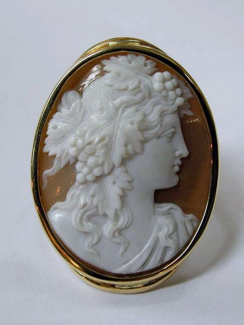 Cameo Ring on Shell