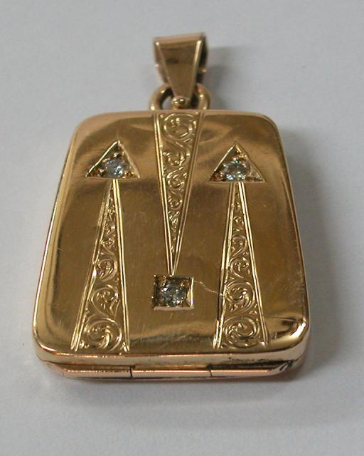Diamonds Gold Locket