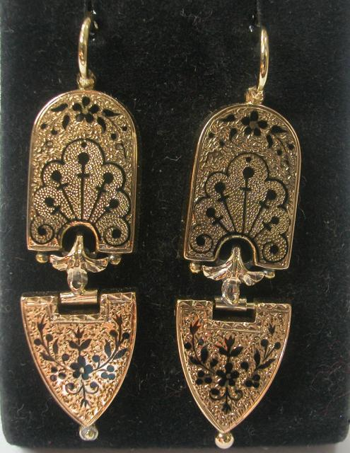 Victorian Enameled Earrings