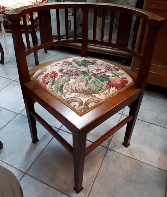 Mahogany Corner Chair from Start of 20th Century