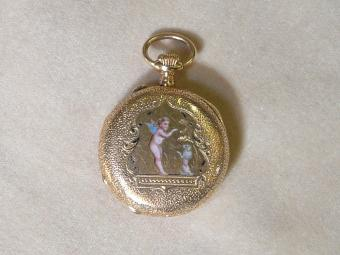 Art Nouveau Pocket Watch with Enamel