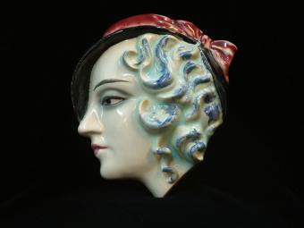 Goebel Poreclain Mask - Blue Haired Woman