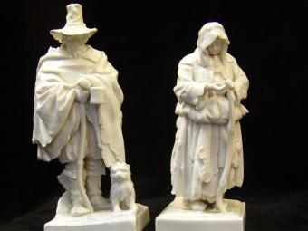 Capo di Monte Porcelain Figurines of Beggars