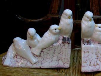 Pigeons Shaped Bookends Pair