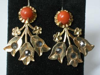 Unique Coral Earrings