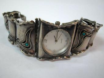 Turquoise and Silver Watch
