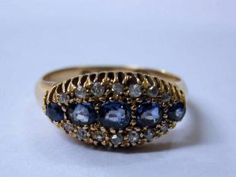 Victorian Sapphires Ring