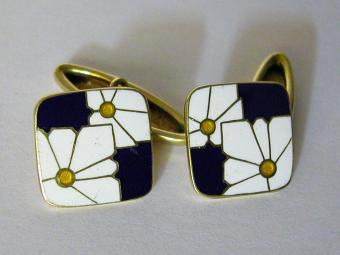 Hand Made Enamel Cufflinks