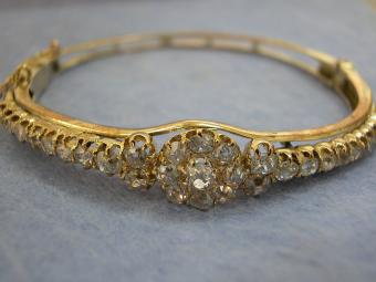 Edwardian Diamonds Bangle