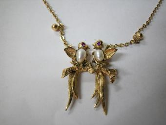 Gold Birds Pendant