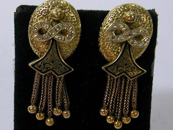 Niello Victorian Earrings
