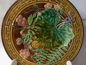 Choisy le Roi French Majolica Plate