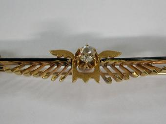 Wings Shaped Diamonds Pin
