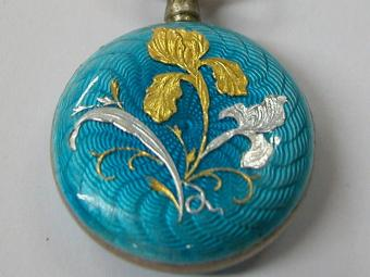 Enameled Pocket Watch