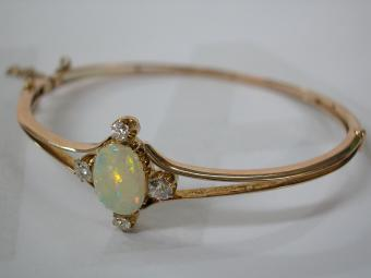 Bangle with Opal and Diamonds