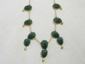 Scarab Beetles Necklace