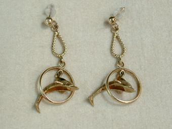 Flying Dolphin Earrings