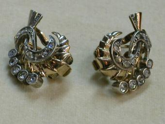 1940s Rose Cut Diamond Earrings