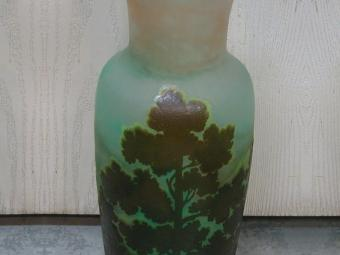 Two Layer Art Glass Vase