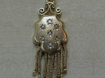 Antique Pendant with Fringes and Pearls