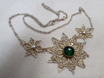 Filigree Gilded Silver Necklace