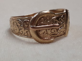 English Belt Buckle Ring
